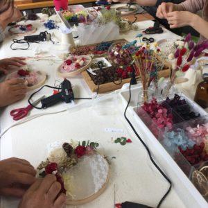 ハウスクリア岡山 刺繍枠アレンジ 制作過程